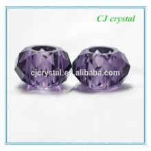 8 * 14mm große Lochperlen, große Loch Rondelle Perlen für Armband