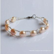 Cheap Nature Freshwater Pearl Bracelet Wholesale (EB1508-3)