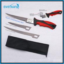 2016 New Stype Interchanable Three Blade Killet Knife Fishing Knife Fishing Tackle