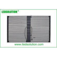 Affichage de rideau LED transparent extérieur P25 pour installation fixe