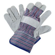 Best Price Standard Stripe Glove Cow Split Leather Gloves