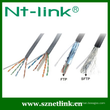 Solid ftp cat5e lan cable 4pr 24awg