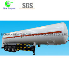 Lco2 / Lar Cryogenic Liquid Tank Container Semi-Trailer