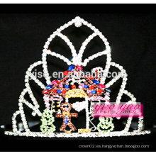 Moda accesorios para el cabello novia diamante tiara de la boda