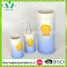 Natural Design Sea World Shell Forma Cerâmica Banheiro Set