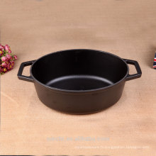 Oval Stew Pot Casserole en fonte Black Matt Enamel