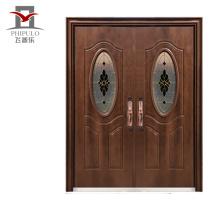 Porta de entrada de metal de segurança design exterior 2018