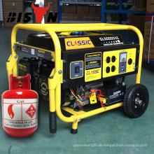 BISON (CHINA) Zhejiang 5KW Gas Methan Benzin 2Wheel Generator Kit LPG Preis