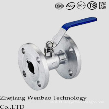 1PC Stainless Steel Flanged Ball valve with Handle