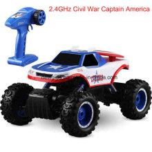 2.4GHz fuera de caminos de escalada Captain America Motor Electric Toy Car