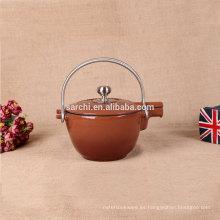 Caldera caliente del té del esmalte de la venta con dos manijas del acero inoxidable