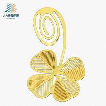 Marcador feito sob encomenda de cobre do ouro do metal do logotipo da folha da venda quente para o presente da promoção