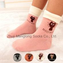 Cómodo cuff calcetines de algodón niño de dibujos animados con giro de mano