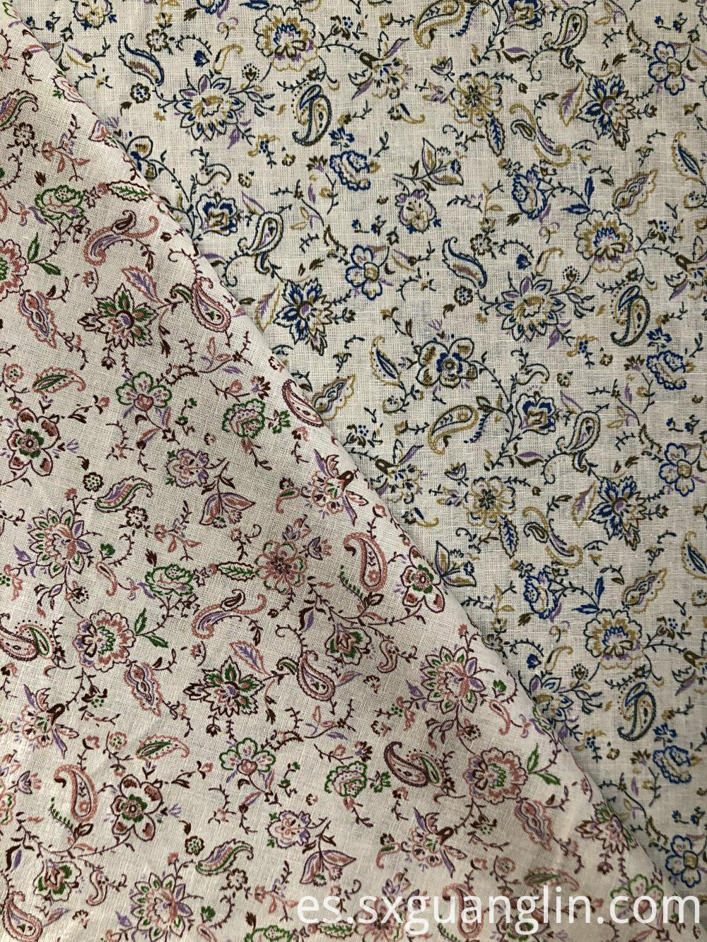linen cotton print fabric