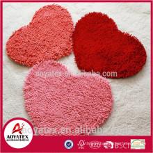 Hot Sale Super Soft Polyester Chenille Carpet Shaggy PVC Floor Covering Door Mats Carpet