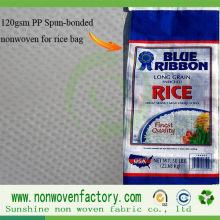 Tela não tecida dos PP Spunbond para fazer do saco do arroz