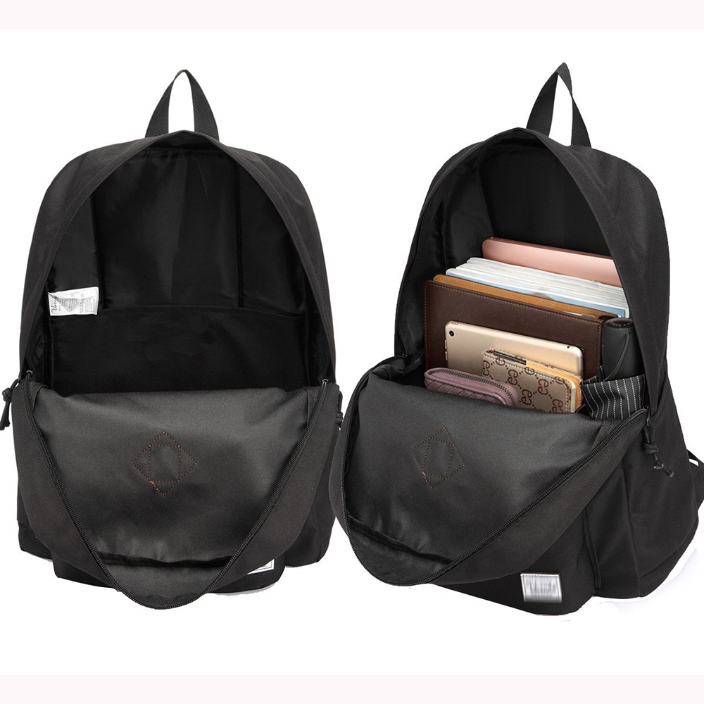 20L waterproof Boy School Backpack Black Bag