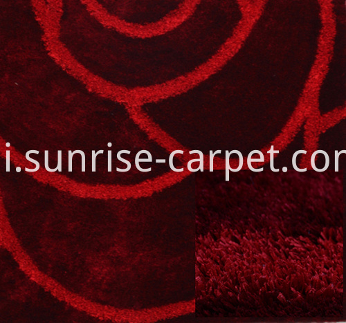 strip and silk 3D design carpet