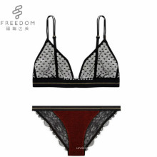 FDBL7101112 hot sexy indische mädchen zurück benutzerdefinierte dreieck spitze stilvolle transparent 28 größe bralette höschen und sexy net bh