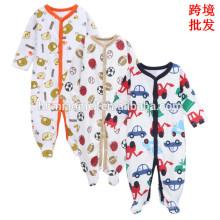 2017 aliexpress venda quente manga longa macacão de bebê projeto bonito do bebê do bebê do inverno macacão macacão