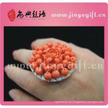 Anéis de noivado engraçados de pedra preciosa feitos a mão coloridos da jóia do casamento os mais atrasados