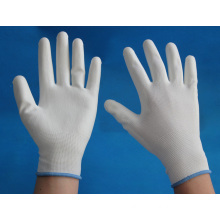 13 gauge nylon knitted working gloves coated with PU on palm