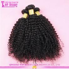 Non transformés humains afro kinky cheveux bouclés russes cheveux humains afro kinky bouclés