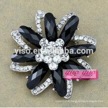 Nouvelle broderie à la mode bijoux broche à fleurs en cristal pour petites filles
