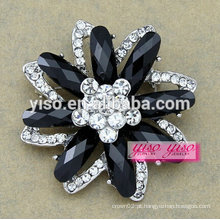 Nova moda jóia brinco de flor de cristal bonito para meninas
