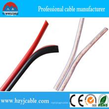 2 Cores 2 * 7 * 66 / 0.12 AWG10 Cable de Altavoz Transparente Flexible