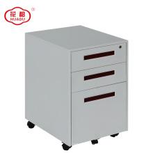 Pedestal móvel moderno da gaveta da mobília de escritório KD 3 para o armário de lima A4