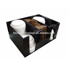 Fabrik Preis Freie Design Countertop Schwarz Acryl 3-Schlitz Kaffee K-Cup oder Süßigkeiten Cup Display Halter
