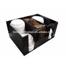 Factory Price Free Design Countertop Black Acrylic 3-Slotted Coffee K-Cup Or Candy Cup Display Holder