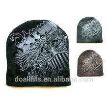 Patrón personalizado punto de alta calidad gorrita con logotipo personalizado hecho en china