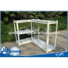 Capacité légère de rayonnage de rivet pour le bureau utilisé / poudre enduite de rayonnage blanc et noir de rayonnage de bureau / de trou de larme