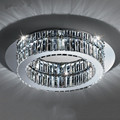 round modern simple crystal chandelier ceiling lamp