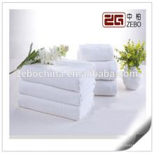 Pure White Großhandel Plain Gewebe Gewebe 32s Baumwolle Hotel Handtuch Sets
