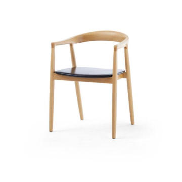 Beech Dining Chair Lederen bekleding Dining Room Furniture