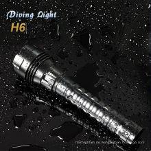 Unterwasser Professional cree xml t6 LED Tauchen Taschenlampe