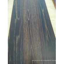 Exquisito parquet ahumado olmo suelo de madera