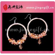 Benutzerdefinierte gedruckt rosa Gold Steeling Silber Dubia Ohrring