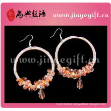 Custom Printed Pink Gold Steeling Silver Dubia Earring