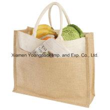 Fashion Large Eco Friendly Reusable Jute Burlap Tote Bag