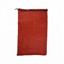 Wholesale mesh firewood bags Factory supply durable plastic mesh bags for firewood hdpe