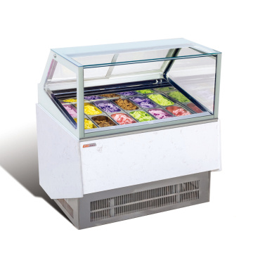 6 ταψί Παγωτό Gelato Display Cabinet