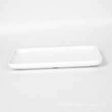 9651  Wholesale Custom Hot sale best quality melamine tableware White Plate Kitchen Plates for Restaurant  009