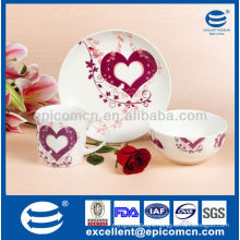 new lovely gift porcelain wholesale breakfast Set For beloved BC8026