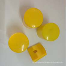 Yellow Round triangle Y post caps star pickets caps