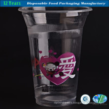High-Quality of Transparent Plastic Cup with Lid