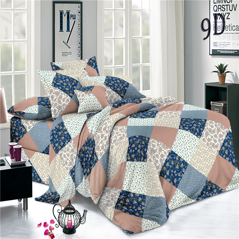 Blue Checked Bed Sheets